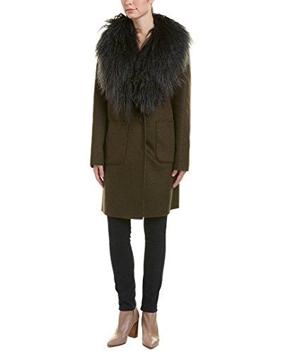 a6ed0d2bda Dawn Levy Womens Cece Wool-Blend Coat, S, Green   Lamont Design