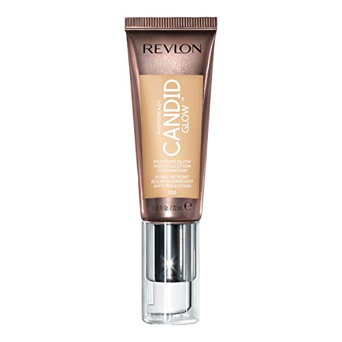 Revlon PhotoReady Candid Glow Moisture Glow Anti-Pollution Foundation with Vitamin E and Prickly Pear Oil, Anti-Blue Light Ingredients, without Parabens, Pthalates, and Fragrances, Buff, 0.75 oz