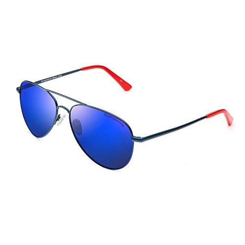 Lunettes amp; Bleu Aviator soleil Foncé Aviator CLANDESTINE homme Red femme polarisées Navi Blue de 5gqFY