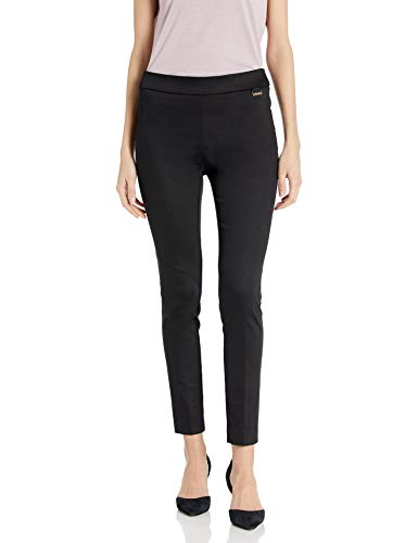 Calvin Klein Women's Pull on Pants (Regular and Plus Size), Cropped Black, M