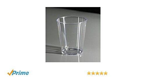 500 Crystal Clear Plastic Shot Glasses 3cl Lined at 2cl