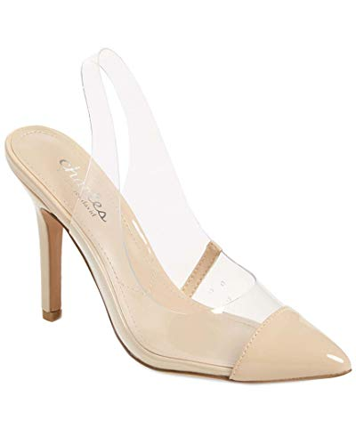 CHARLES BY CHARLES DAVID Women's Madalyn Slingback Pump Clear Vinyl 8 M ()