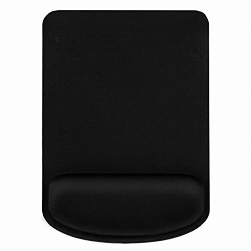 RiaTech Ergonomically Designed Non-Slip Rubber Base Anti-Skid Mouse Pad with Memory Foam Wrist Rest Support, Water Resistance Gaming Mouse Mat for Computer & Laptop-Black (Square Shape,180 x 250 x 3mm)
