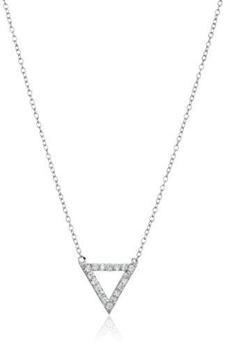 Sterling Zirconia Triangle Necklace Extender