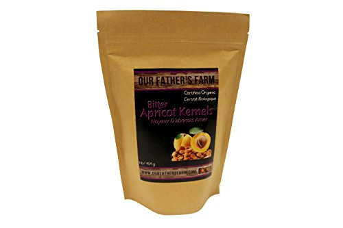 Our Father's Farm Bitter Certified Organic Raw Apricot Kernels (1 Pound / 454 grams)