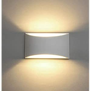 LED Wall Lights Plaster Wall Sconce Light Fixture Up Down Decorative Wall Lighting Indoor with 7W Light G9 Cap Type Night Lamp
