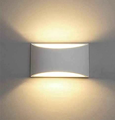 LED Wall Lights Plaster Wall Sconce Light Fixture Up Down Decorative Wall Lighting Indoor with 7W L Light G9 Cap Type Night L& Amazon.co.uk Lighting & LED Wall Lights Plaster Wall Sconce Light Fixture Up Down Decorative ...