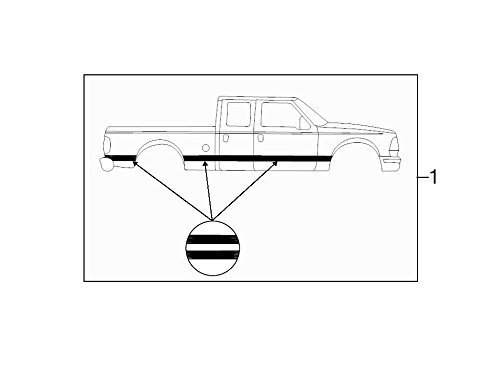 Genuine Ford 5C3Z-26255A67-CAB Stripe Decal