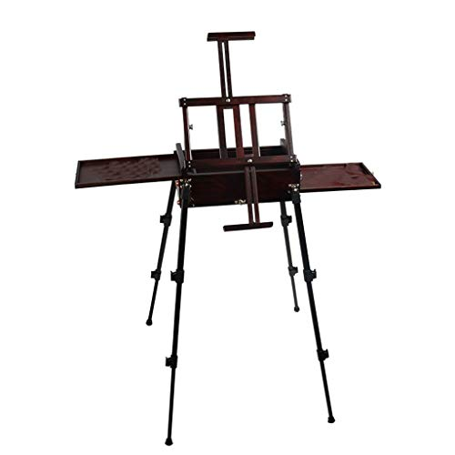GSHWJS Children's Easel Portable Sketching Box Watercolor Art Easel Easy to Store Foldable Suitable for Wild Sketch Use Easel (Color : A)
