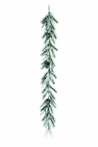 - Napco Snow Flocked Evergreen Pine 72 Inch Artificial Decorative Christmas Garland