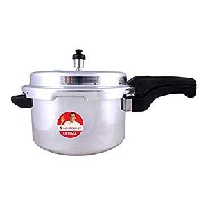 Wonderchef Ultima Outer Lid Aluminium Pressure Cooker, 1.5 Liter, Silver