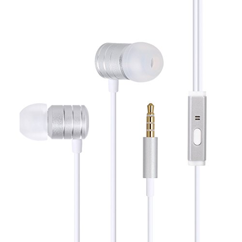 Wired Headphones, Bestfy in Ear Headphones and Sports Headphones- Noise Isolating with Stereo Sound Mic for Smartphones and Other Devices with 3.5mm Audio Port