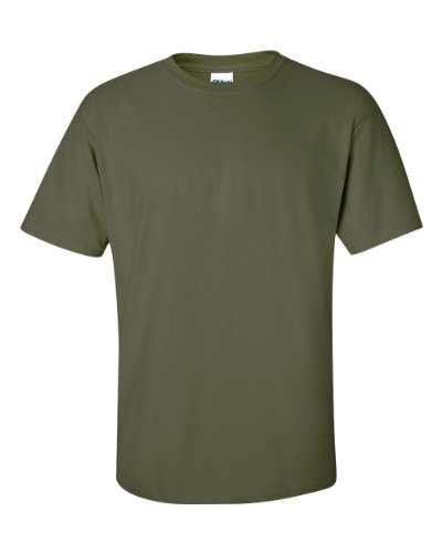 Gildan Mens Ultra Cotton 100% Cotton T-Shirt, Medium, Military Green
