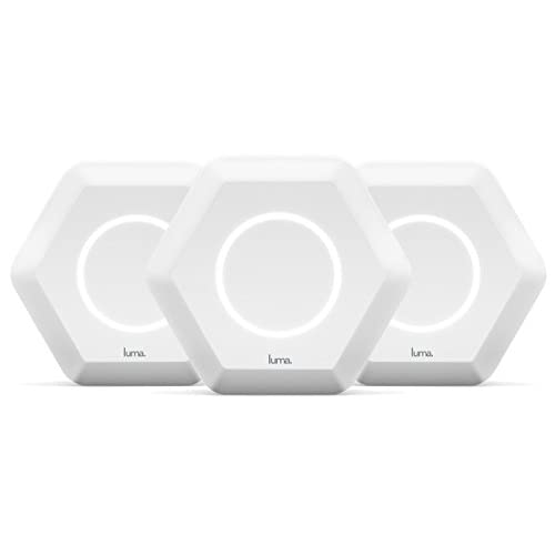 Luma Whole Home WiFi (3 Pack - White) -   Replaces WiFi Extenders and Routers, Works with Alexa, Free Virus Blocking, Free...