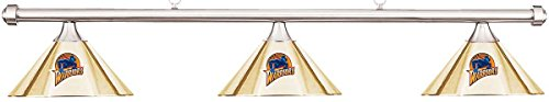 Imperial NBA Golden State Warriors Brass Shade & Chrome Bar Billiard Pool Table Light by Imperial