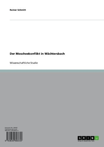 Der Moscheekonflikt in Wächtersbach (German Edition) for sale  Delivered anywhere in USA