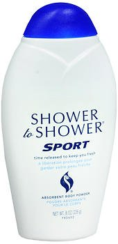 Shower to Shower Absorbent Body Powder Sport - 8 oz, Pack of 2 by Shower To Shower