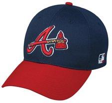 "MLB YOUTH Atlanta BRAVES Alternate ""Hatchet"" Hat Cap Adjustable Velcro TWILL"
