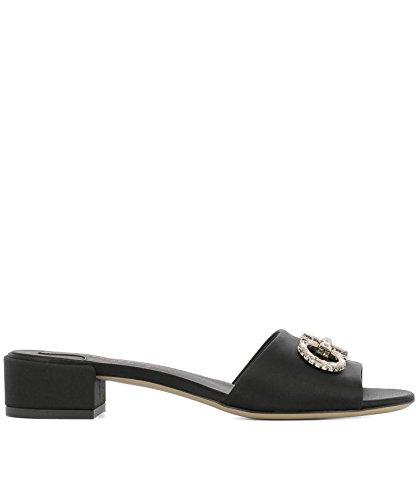 Salvatore Ferragamo Women's 0685590 Black Leather Sandals zciRfB