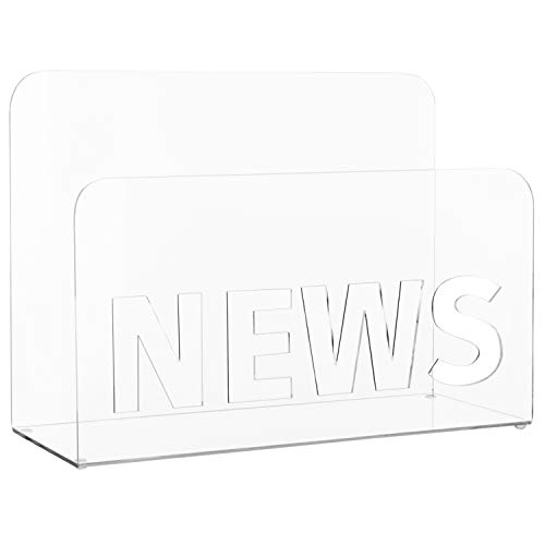 - MyGift Clear Acrylic Magazine & Newspaper Holder with News Cutout
