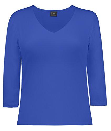 LBH Women's 3/4 Sleeve V-Neck Top XL BRY-Bright Royal