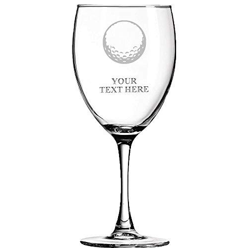 Golf Ball Personalized Wine Glass - 10.5 oz Soiree Golf Wine Glass Gift Prime -