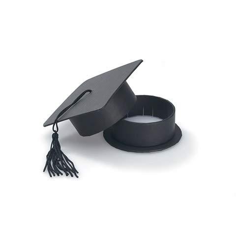 Darice 1405-86 Favor Box, Graduation Hat, black, Black]()