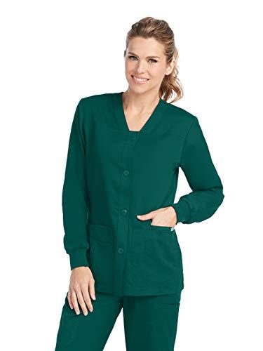 Grey's Anatomy 4435 Sporty Warm-Up Jacket Hunter Green 2XL ()