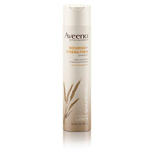 Aveeno Nourish+ Strengthen Shampoo For Damaged Hair, 10.5 Fl. Oz, pack 0f 2