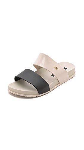 Sandalo Da Scivolo Cosmico Da Donna Melissa Beige Nero