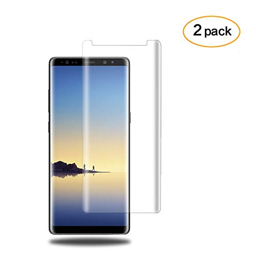 [2PACK] DeFitch Galaxy Note 8 Glass Screen Protector, [Crystal Clear] [9H Hardness] [Anti-Scratches] [Anti-Fingerprint] [Bubble Free] Screen Protector Film Compatible with Samsung Galaxy Note 8 by DeFitch