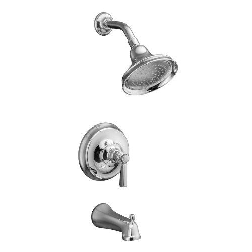 KOHLER Bancroft Polished Chrome 1-Handle Tub & Shower Faucet with Single function Showerhead ()
