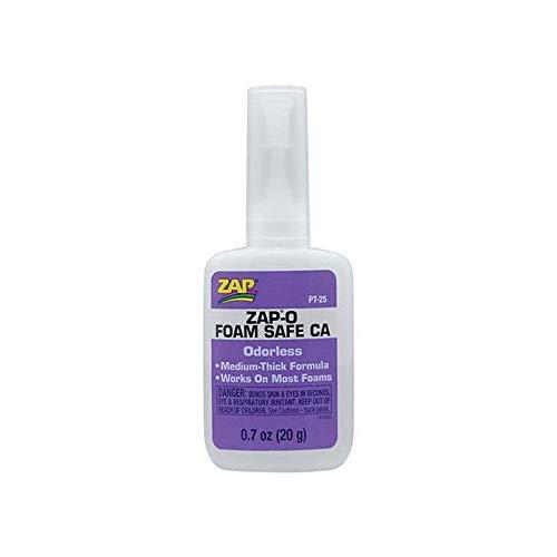 ZAP0 Foam Safe Odorless CA Glue .7 Ounce RC Airplane Vehicles Toys Glue Quick Arrive