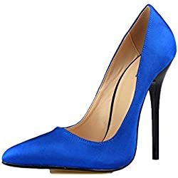 Fanatical-Night The Product was Upgrade, Pointed Toe Sexy High Heels Women Pumps 13CM Women Shoes,Blue,12
