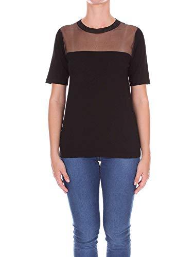 Dondup T shirt Negro Dm169m570dvszablack Algodon Mujer 4rSR4