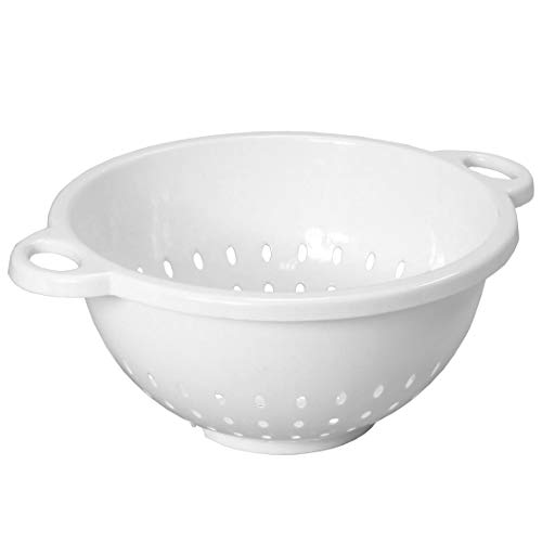 White Plastic Strainer - Chef Craft 21311 Deep Colander, 1 pack, White