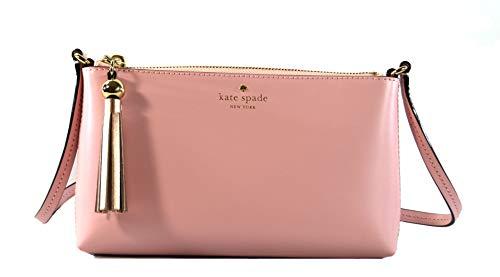 Kate Spade Amy Ivy Street Leather Women's Crossbody Bag Purse Handbag, Rose Jade