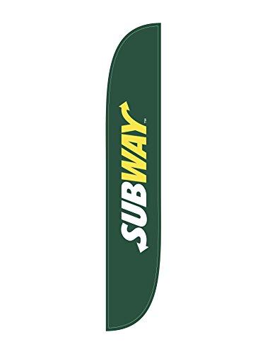 lookourway-subway-feather-flag-green-12-feet