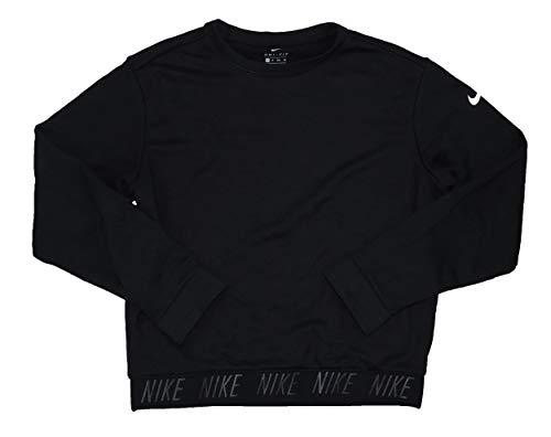 Lightweight Sweatshirt Crewneck (NIKE Women's Crew Neck Dri-Fit Long Sleeve Lightweight Sweatshirt (Black, X-Small))