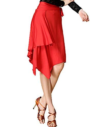 onesize Gonna Fengjingyuan red Prestazioni yifu Latino Red Chinlon Di Donna Formazione Leopard Spandex Dance tqf7wxRgf