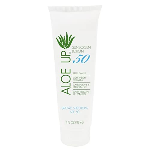 Aloe Up Sun & Skin Care Products White Collection SPF 50 Sunscreen Lotion
