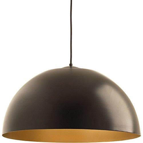 Progress Lighting P5342-2030K9 Dome One-Light Pendant with Hal Ac LED Module, Antique (Gold Light Dome)