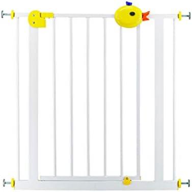 LSRRYD Portátil Perro Puerta De Seguridad Plástico ABS Hierro Puro Valla Seguridad Infantil Escalera Doble Bloqueo Fácil De Instalar para Puertas Escaleras Pasillos Interior Al Aire Libre: Amazon.es: Hogar