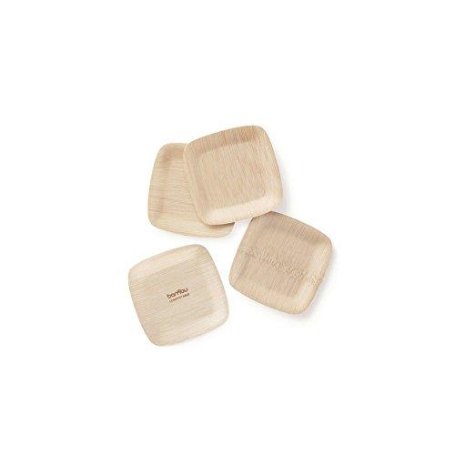 bambu 063800 Square Veneerware Bamboo Tasting Plates,Natural Bamboo , 3 1/2,250-Pack