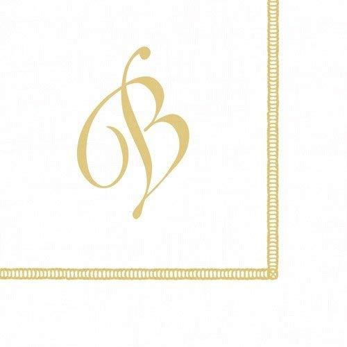 Entertaining with Caspari Monogram Initial B Paper Cocktail Napkins, Pack of 20 ()