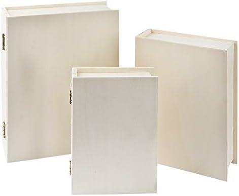 Ideen mit Herz Caja de Madera, Forma: Libro, 4 x 15 x 11 cm ...