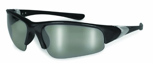 SSP Eyewear3.00 Bifocal/Reader Safety Glasses with Black Frames and Mirrored Lenses, ENTIAT 3.0 BLK M