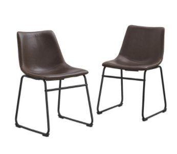Amazon.com - SKB Family Faux Leather Dining Kitchen Chairs ...