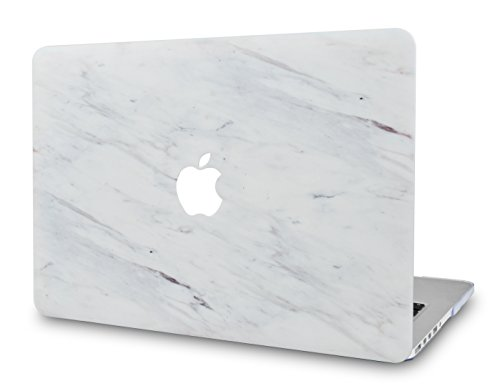 LuvCase Rubberized Plastic Hard Shell Case Cover Compatible MacBook Air 13 Inch A1466 & A1369, NOT Compatible 2019/2018 New Version A1932 with Retina Display (Silk White Marble)