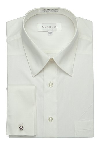 Marquis Men's Dress Shirt with French Cuffs and Links, 18-18.5